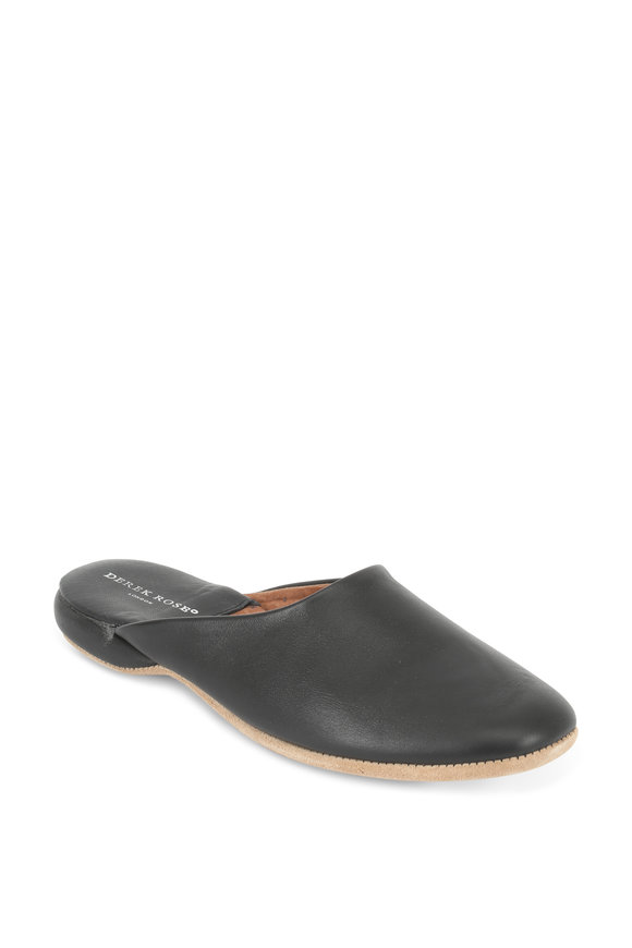 Derek Rose Morgan Black Leather Slipper