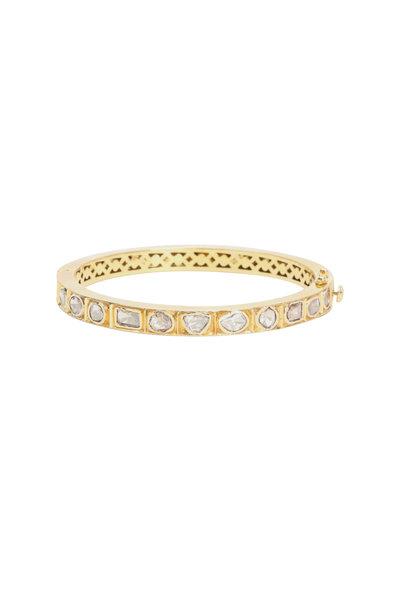 Loren Jewels - 18K Yellow Gold Diamond Bangle