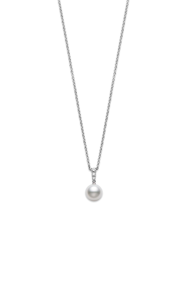 White Gold Morning Dew Pearl Necklace