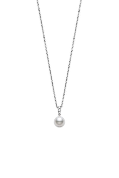 Mikimoto - White Gold Morning Dew Pearl Necklace