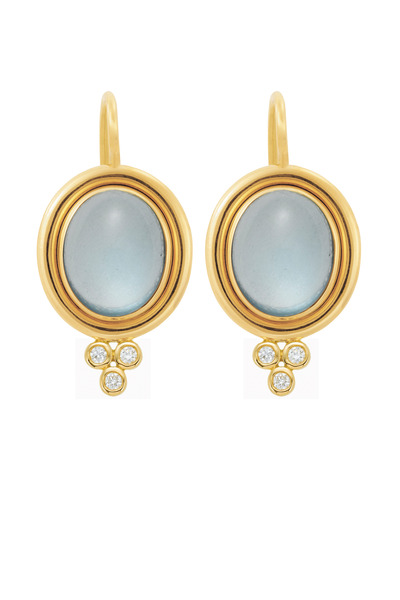 Temple St. Clair - Gold Aquamarine Earrings