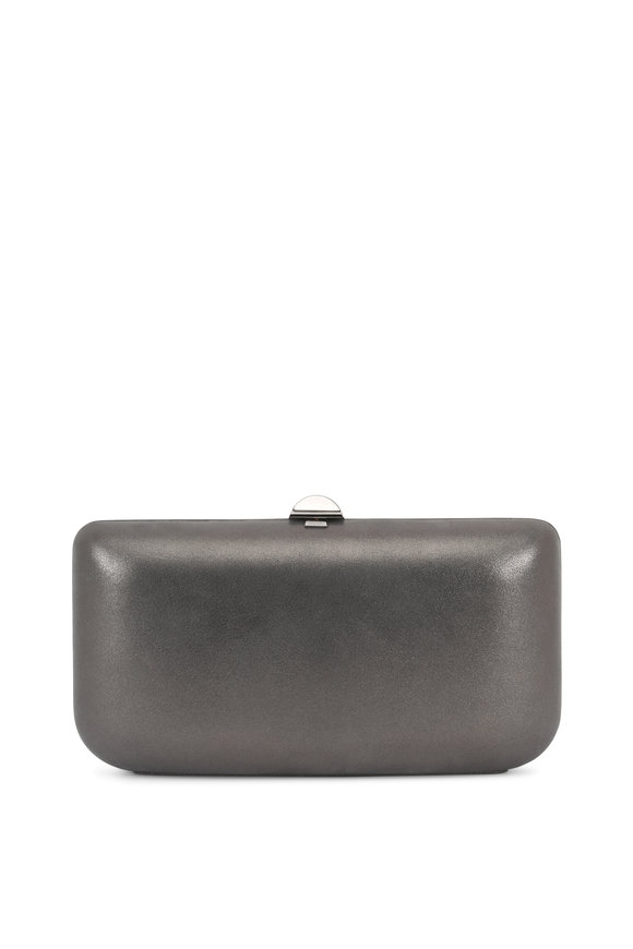 Rodo Firenze Gunmetal Burma Suede Chain Box Clutch
