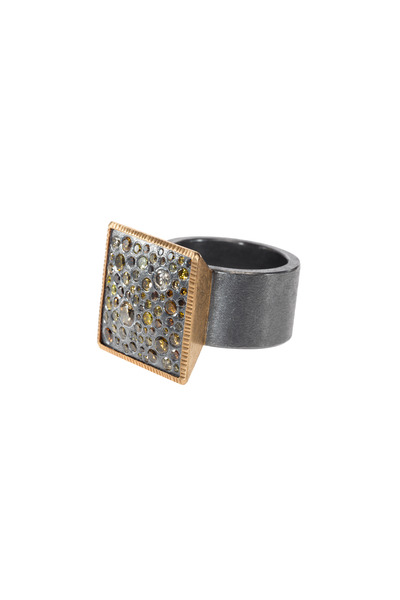 Todd Reed - Rose Gold Autumn Diamond Cocktail Ring