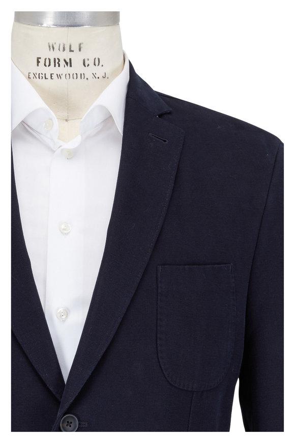 JKT New York Bond Navy Blue Canvas Sportcoat