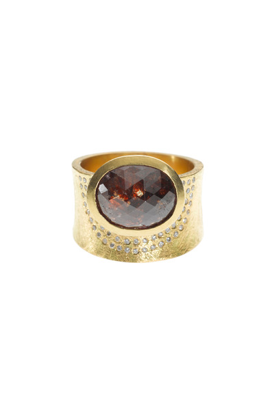 Todd Reed - Yellow Gold Fancy Red & White Diamond Ring