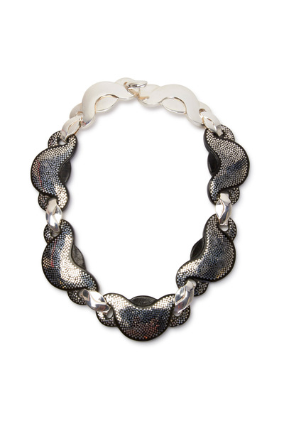 Patricia von Musulin - Sterling Silver Inlayed Ebony Link Necklace