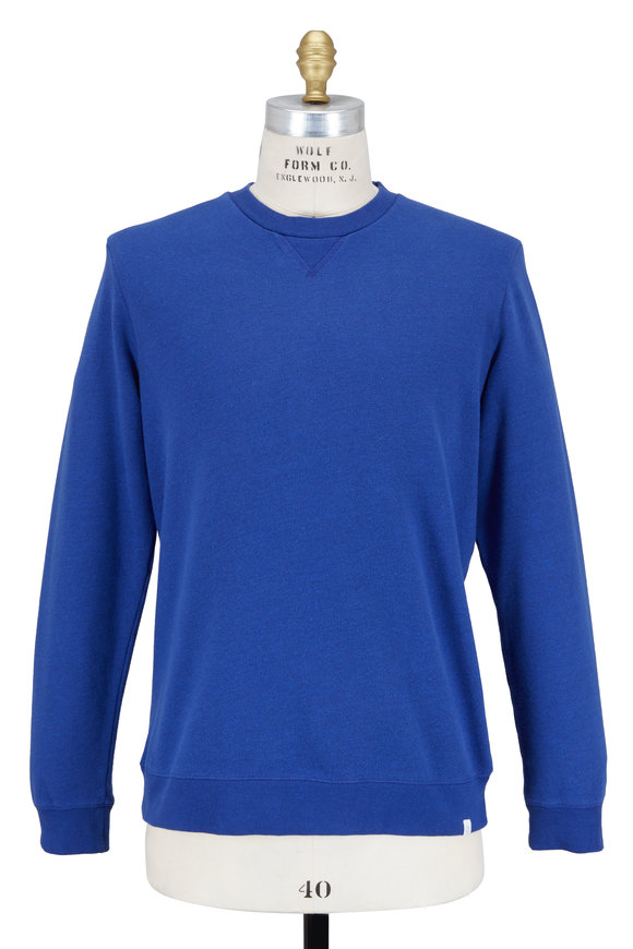 Derek Rose Devon Royal Blue Cotton Sweatshirt