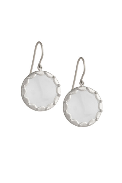 Jamie Wolf - White Gold Scallop Overlay Moonstone Earrings