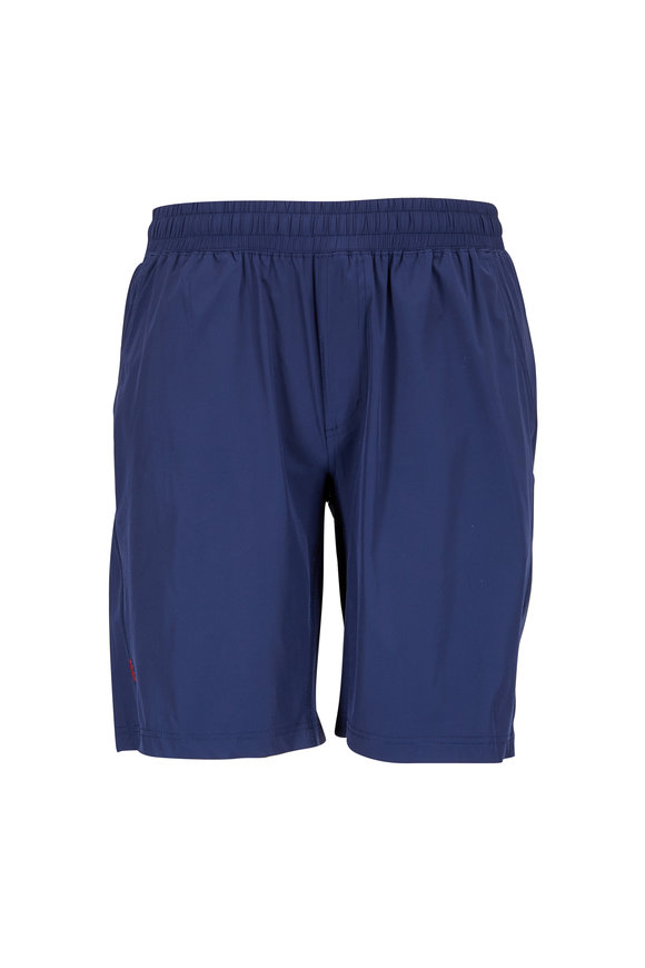 Rhone Apparel Mako Navy Blue Nylon Performance Shorts