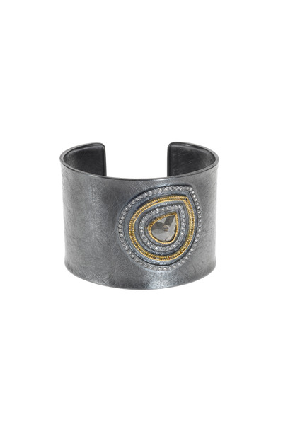 Todd Reed - Gold & Silver Mixed Diamond Cuff Bracelet