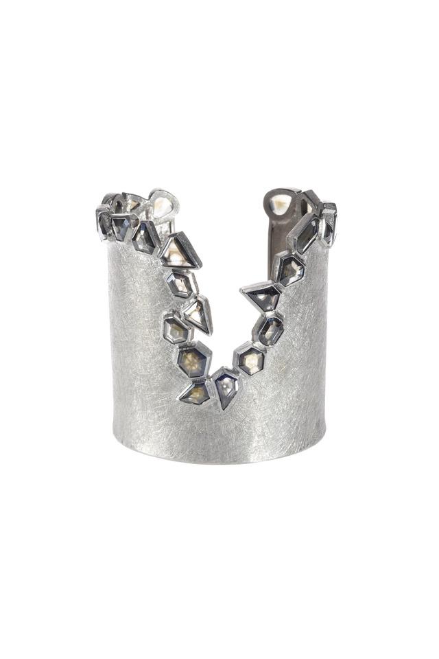 Palladium Diamond Cuff Bracelet