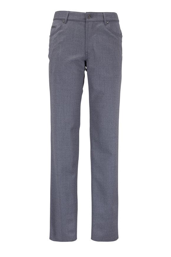 Hiltl Gray Stretch Wool Five Pocket Pant