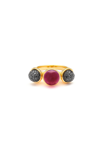 Syna - Baubles Yellow Gold Rubellite & Diamond Ring