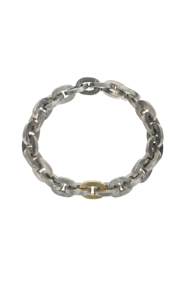 Yellow Gold & Silver Diamond Link Bracelet