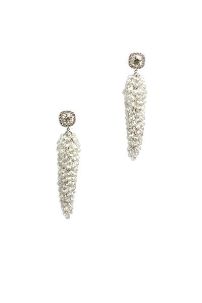 Eclat - White Gold Briolette Diamond Earrings