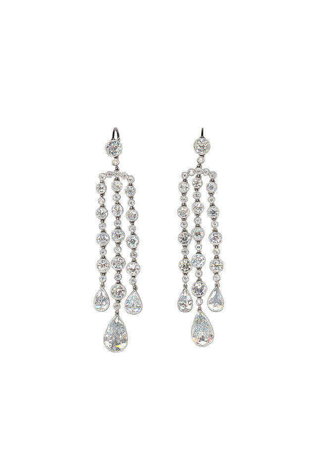 Platinum Chandelier Diamond Earrings