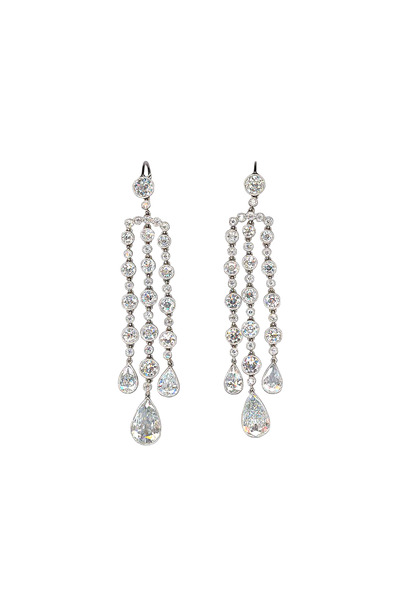 Eclat - Platinum Chandelier Diamond Earrings