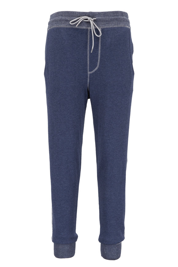 Agave Steadman Ink Blue Terry Lounge Pant