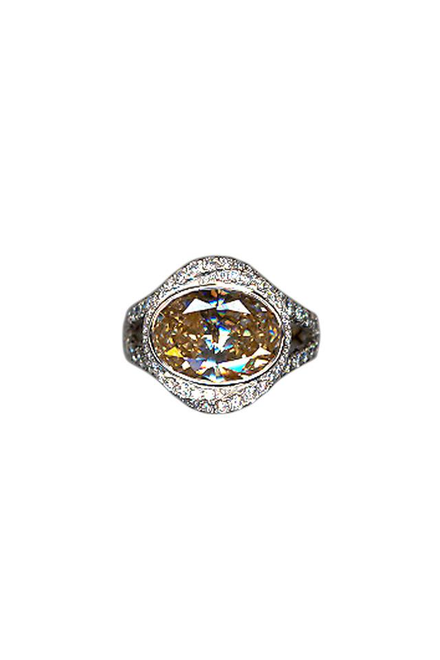 Platinum Brown Diamond Ring