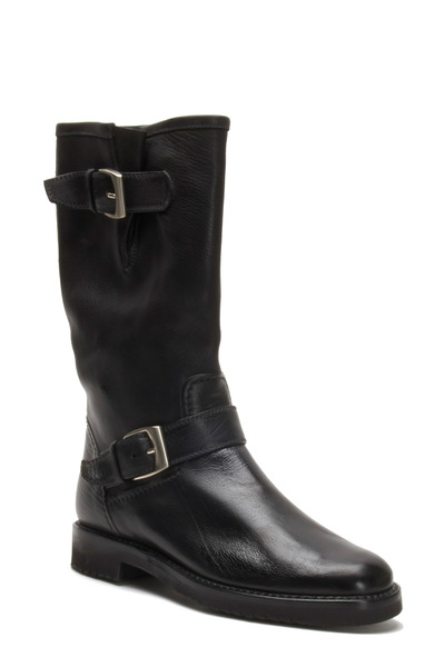 Gravati - Black Leather Biker Boot