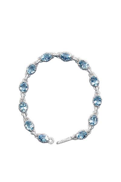 Eclat - White Gold Aqua & Diamond Bracelet