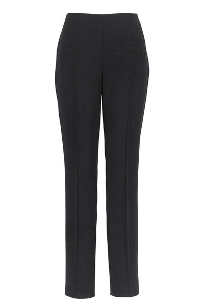 Akris - Melissa Granite Wool Slim Pant