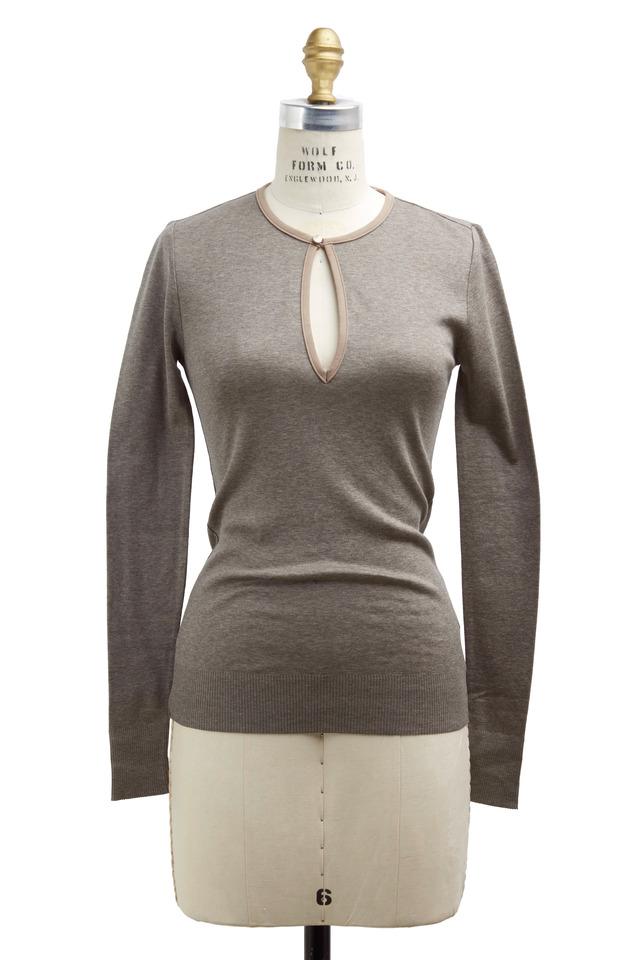 Gray Knit Top