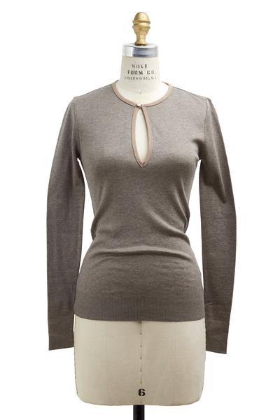 Ralph Lauren - Gray Knit Top