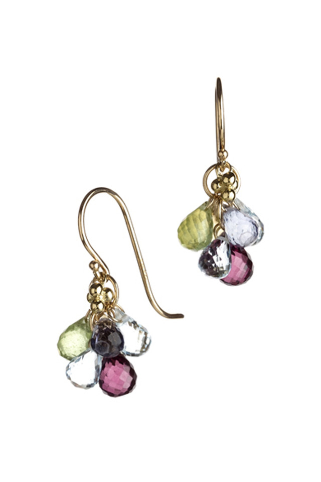 Karina Dark Mixed Gemstone Earrings