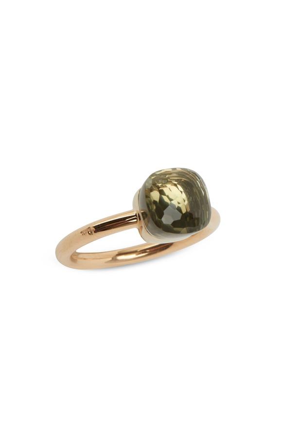 Pomellato Nudo 18K Rose Gold Prasiolite Ring