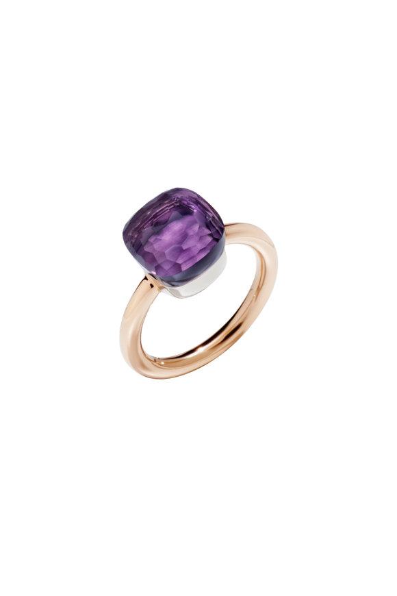 Pomellato Nudo 18K Rose Gold Amethyst Ring