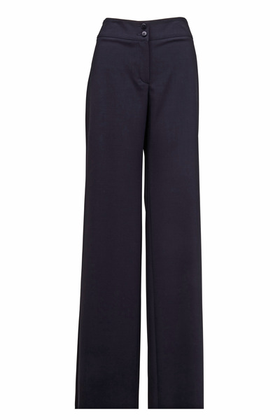 Emporio Armani - Midnight Black Featherweight Wool Pants