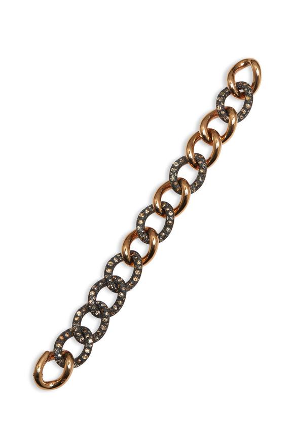 Pomellato Pink Gold Burnished Silver Diamond Tango Bracelet