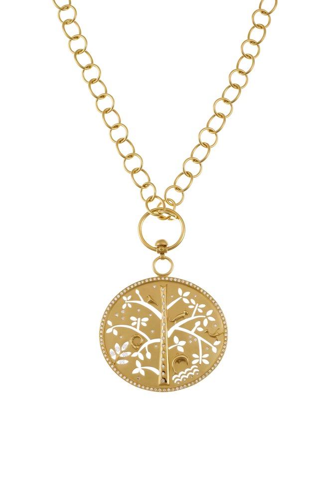Yellow Gold Tree Of Life Pendant