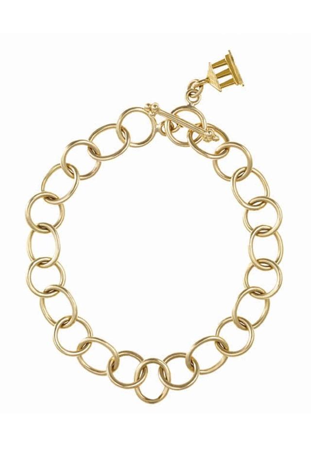 Yellow Gold Large Link Bracelet