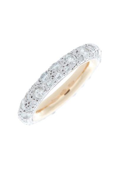 Pomellato - 18K Rose Gold Diamond Tango Ring