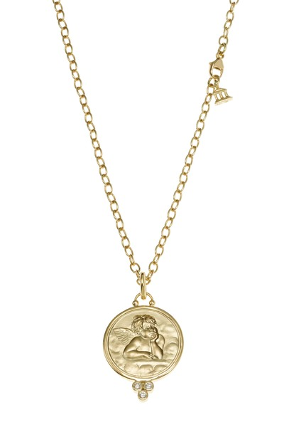 Temple St. Clair - Yellow Gold Diamond Angel Pendant