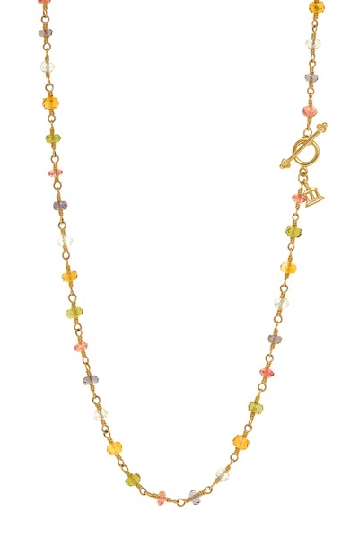 Temple St. Clair - Karina Gold Multiple Gemstone Wrap Necklace