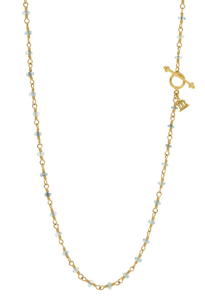 Temple St. Clair - Karina Yellow Gold Aquamarine Necklace