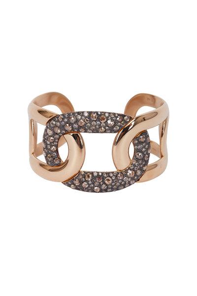 Pomellato - Pink Gold & Silver Diamond Tango Cuff Bracelet