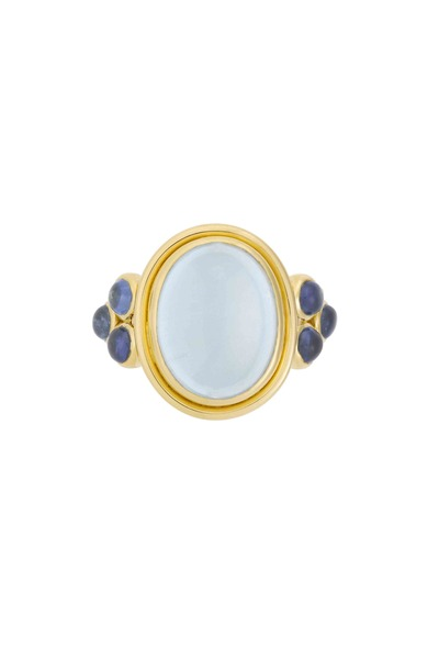 Temple St. Clair - 18K Yellow Gold Aqua & Tanzanite St. Paolo Ring