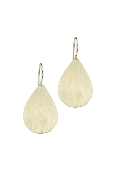 Irene Neuwirth - Yellow Gold Large Pear Shape Drop Earrings