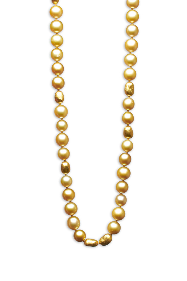 Roxanne Yellow Gold South Sea Pearl Necklace