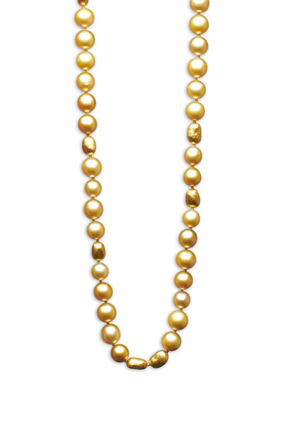 Yossi Harari - Roxanne Yellow Gold South Sea Pearl Necklace
