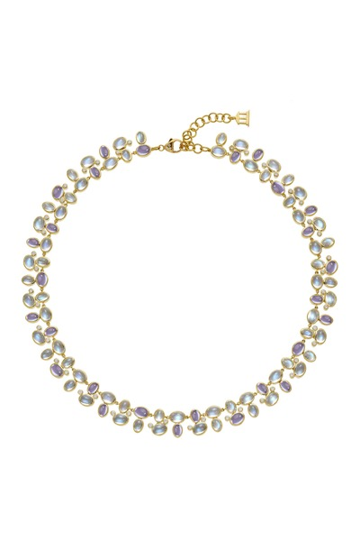 Temple St. Clair - Yellow Gold Blue Moonstone Tanzanite Necklace