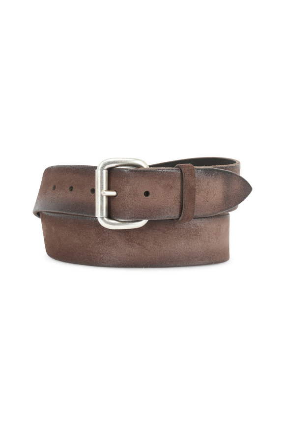 Orciani  Brown Grained Leather Belt