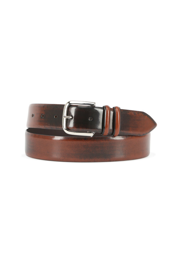 Orciani  Medium Brown Ombré Leather Belt