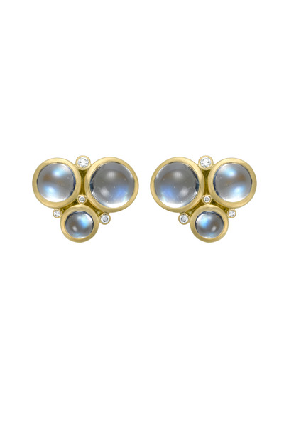 Temple St. Clair - Blue Moonstone Trio Earrings