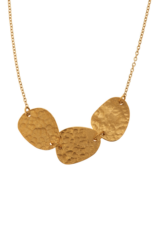 Yellow Gold Three Element Necklace