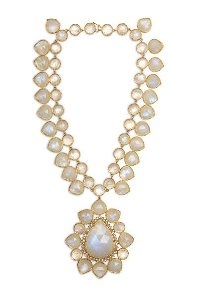 Irene Neuwirth - Rose Gold Moonstone Cabochon Necklace